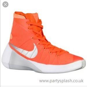 Orange Nike hyperdunks